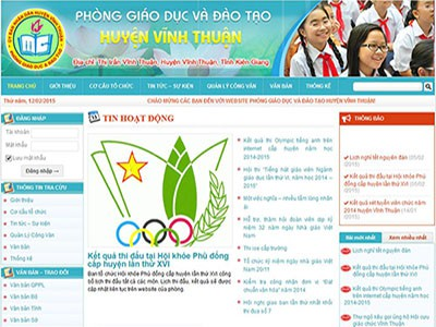 Cổng thông tin điện tử Phòng GD&ĐT Vĩnh Thuận – Kiên Giang