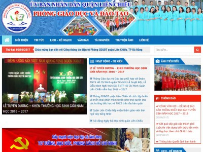 Cổng thông tin điện tử Phòng GD&ĐT Liên Chiểu – Đà Nẵng