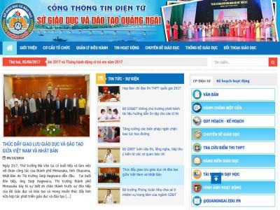 Cổng thông tin điện tử Sở GD&ĐT Quảng Ngãi